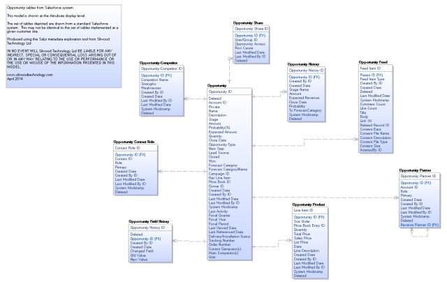 Salesforce Opportunity data model in CA ERwin format